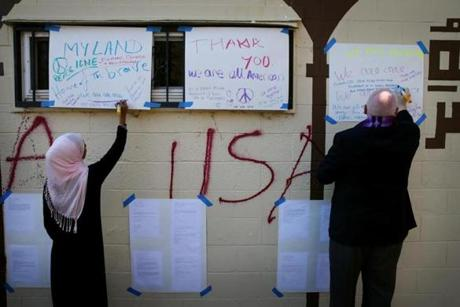 Muslims hold interfaith event to 're-tag' Burlington mosque